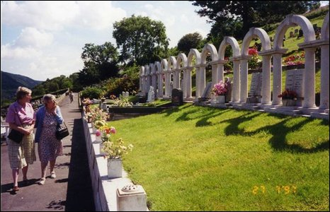 The cemetery commemorating victims of the Aberfan disaster of 1966. Photo by John and Dorothy Webley