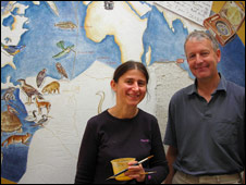 Artist Maja Subic with Shrewsbury School's Andrew Allott