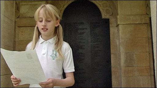 Schoolgirl reading the letter