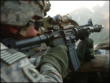 US soldier in Afghanistan, file pic