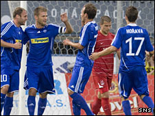 Sigma Olomouc players celebrating