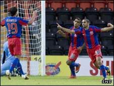 Petre Marin celebrates his goal for Steaua Bucharest