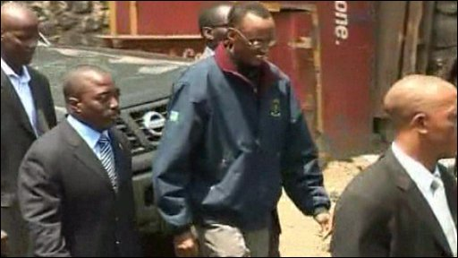 Joseph Kabila and Paul Kagame