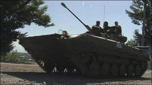 A tank in South Ossetia