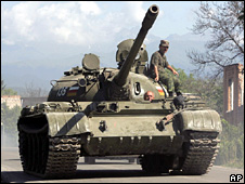 Tank in South Ossetia (file)
