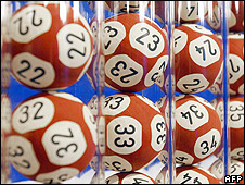 Lottery balls (file pic)