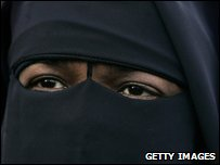 A Dutch woman wearing a burka