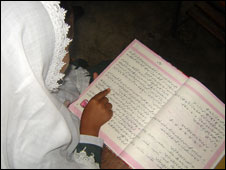 Ambrin Rashid studying