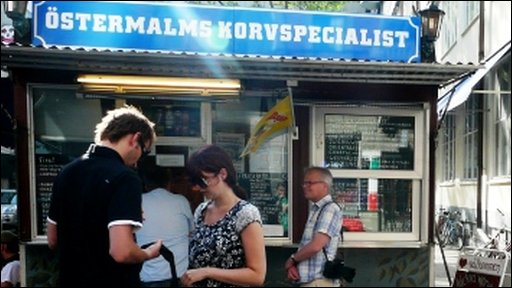 The Ostermalms Korvspecialist hot dog stand