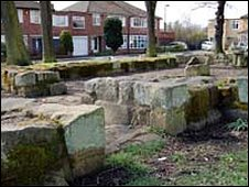 Ruins of North Gosforth Chapel in Melton Park