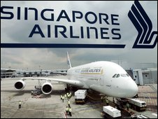 Airbus A380 in Singapore