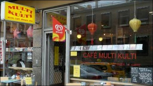 The shop front of Cafe Multikulti