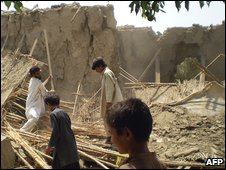 Rubble of houses belonging to supporters of Baitullah Mehsud