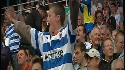 Fans at Reading FC