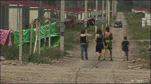 Displaced Georgians living in purpose-built village