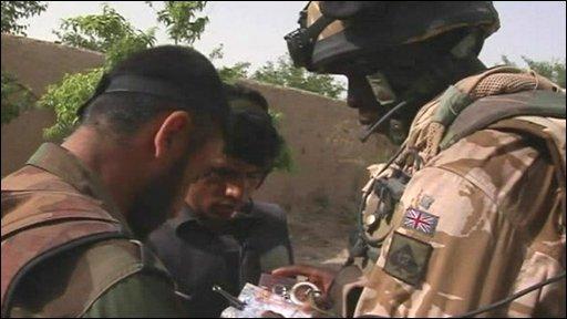British troops working in Afghanistan