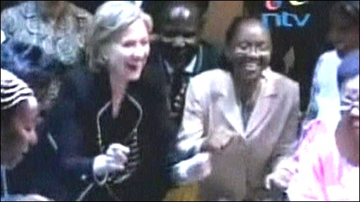 Hillary Clinton dancing