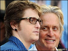 Cameron and Michael Douglas