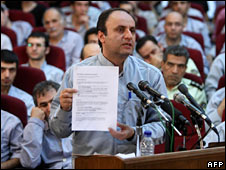 Hossein Rassam at the trial in Tehran