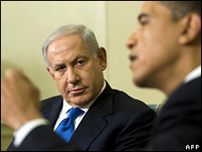 Benjamin Netanyahu and Barack Obama (18 May 2009)