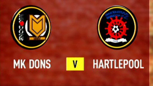 Highlights - MK Dons 0-0 Hartlepool