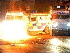 Petrol bomb attack