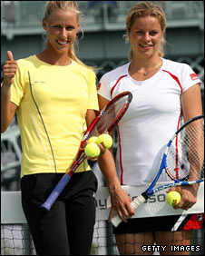 Elena Dementieva and Kim Clijsters