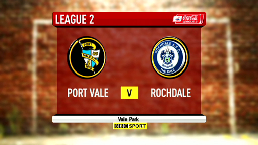 Highlights - Port Vale 1-1 Rochdale