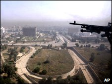 A partial view of the Iraqi capital Baghdad