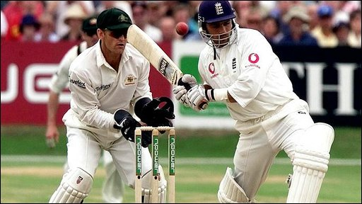 Mark Ramprakash playing against Australia