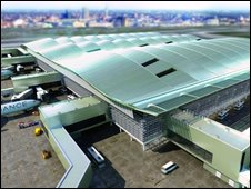 Artist's impression of new Heathrow Terminal 2