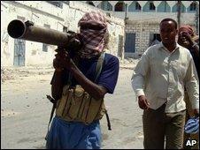 Somali insurgents in Mogadishu, Juily 2009