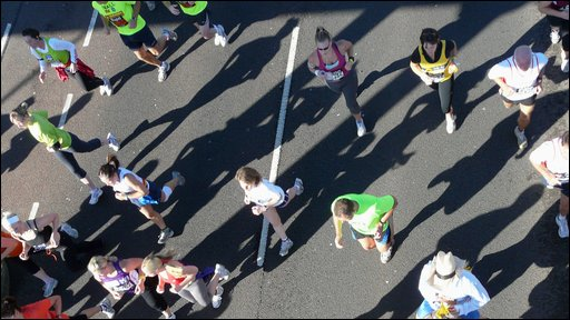 Runners in 2008 Great North Run