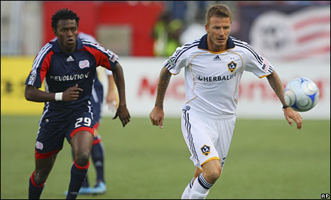 David Beckham (right) and Kenny Mansally
