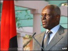 President Jose Eduardo Dos Santos, file