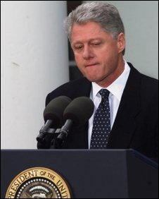 President Bill Clinton apologises