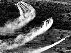 Planes spraying Agent Orange over Vietnam
