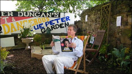 Peter Duncan in his Blue Peter garden