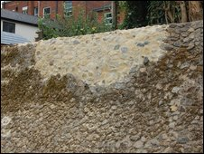 Roman wall in Colchester