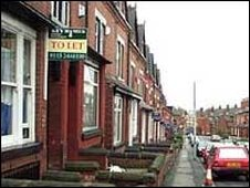 To Let sign in Headingley