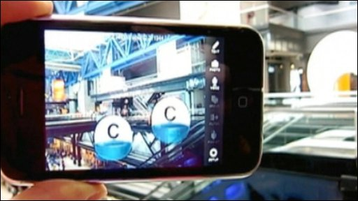 Phone showing Augmented reality system Acrossair