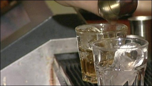 Still of drinks being poured
