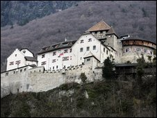 Vaduz castle, home of the Liechtenstein  princely family