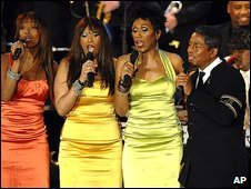 Jermaine Jackson and the Pointer Sisters at the Save The World Awards in Vienna