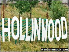 Hollinwood sign (pic: MEN Syndication)