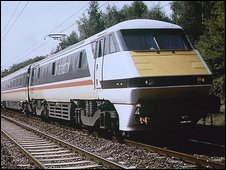 BR Intercity train in 1990