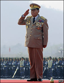 File image of Burma's top general, Than Shwe