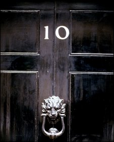 Downing St door, BBC