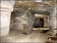 Secret underground tunnels