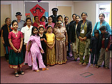 Members of the Tamil community Centre  in London